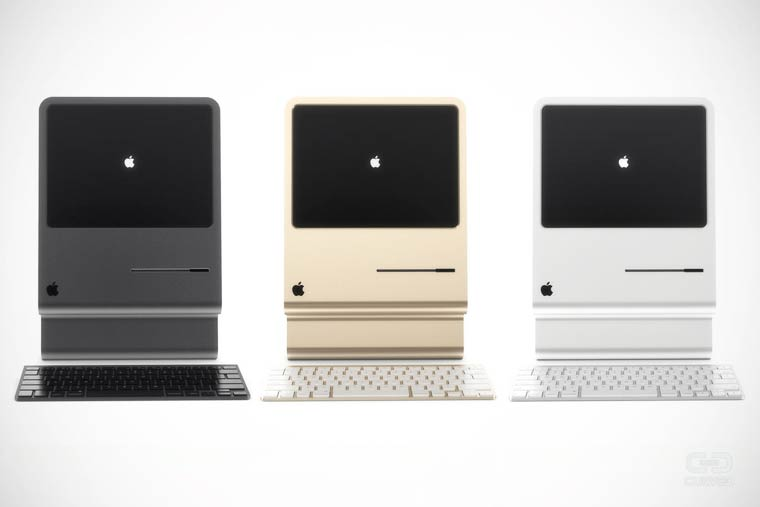 Curved Mac – An excellent concept in tribute to the first Apple Macintosh
