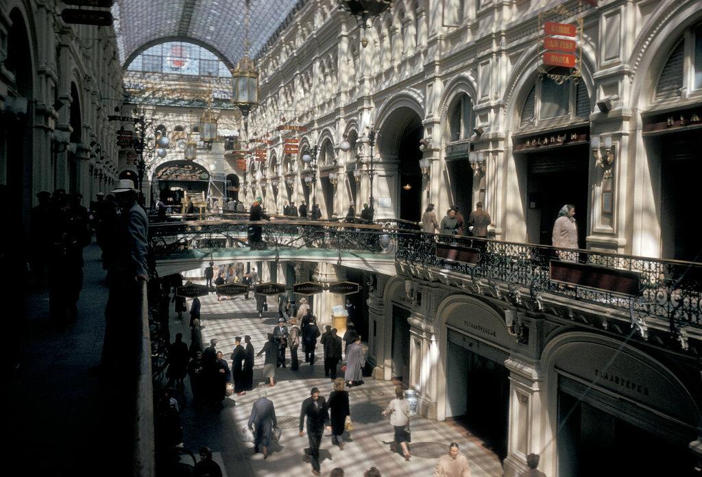 Moscow, interior atrium of GUM department store