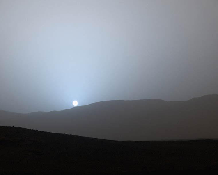 The first sunset captured on Mars