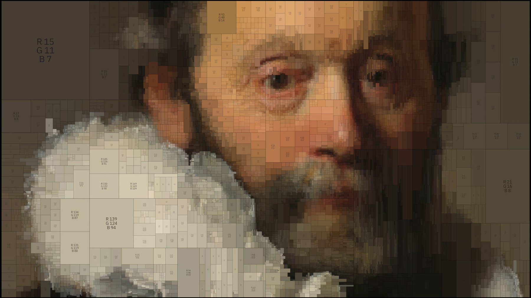 Digital Interpretations of Classical Paintings Using Algorithms