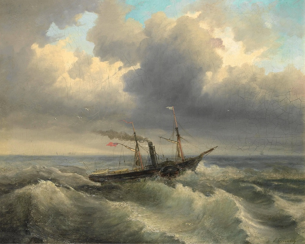Shipping through rough waters.