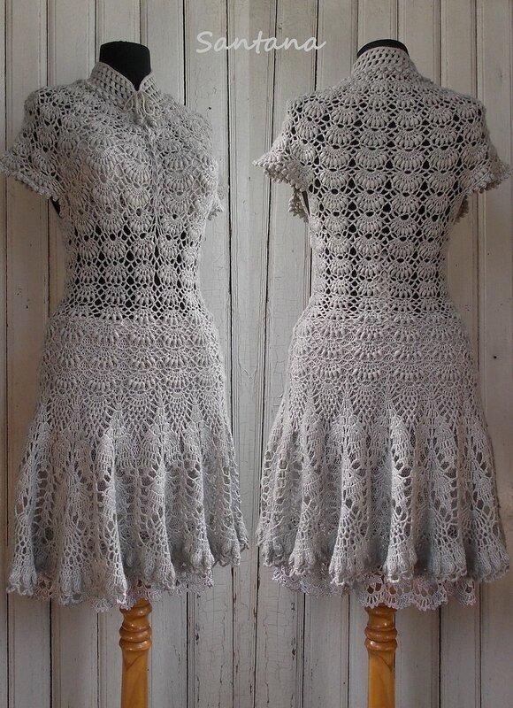 Серое платье. Коллаж 2
