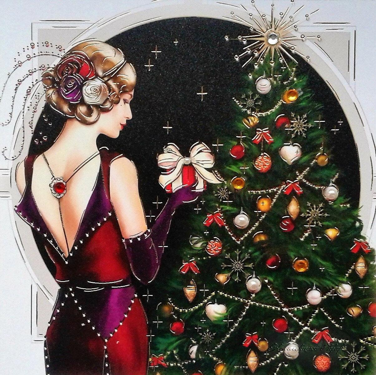 новогодние картинки и рождественские в ретро стиле особо продвинутых