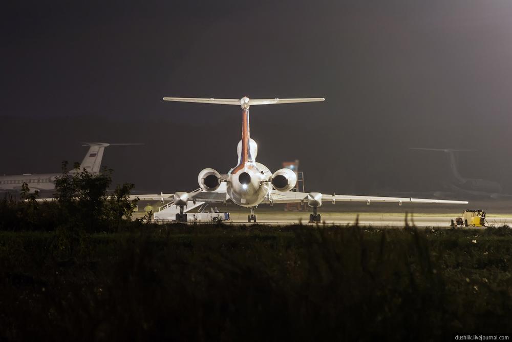 Ночные проводы Словацкого правительственного Ту-154М