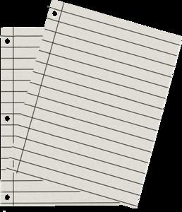 листы из блокнота
