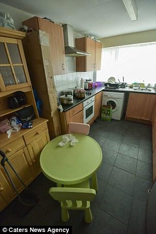 Кухня в доме семьи.