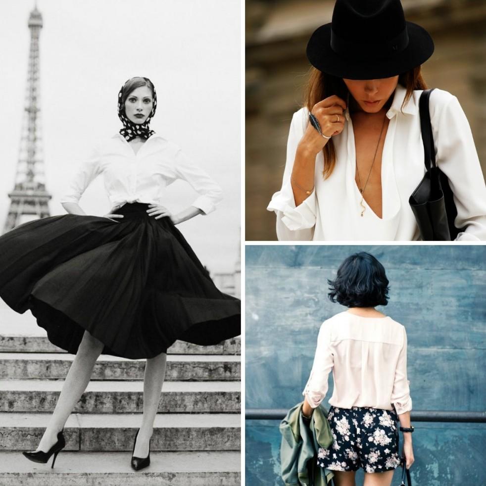 4. Белая рубашка/блузка «Если вы спросите меня, что я хотел бы изобрести в моде, я отвечу: