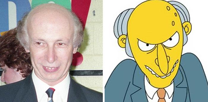 Мистер Бернс из «Симпсонов».