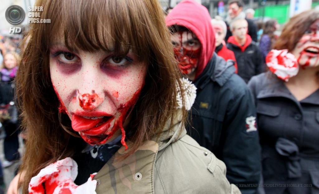 Парад монстров в Брюсселе
