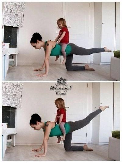 Упражнения для молодых мамочек