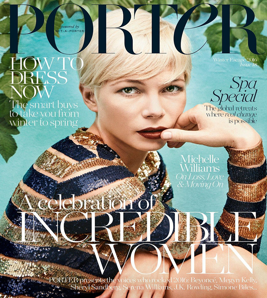 Michelle Williams - Porter Magazine #18 (Winter Escape 2016)