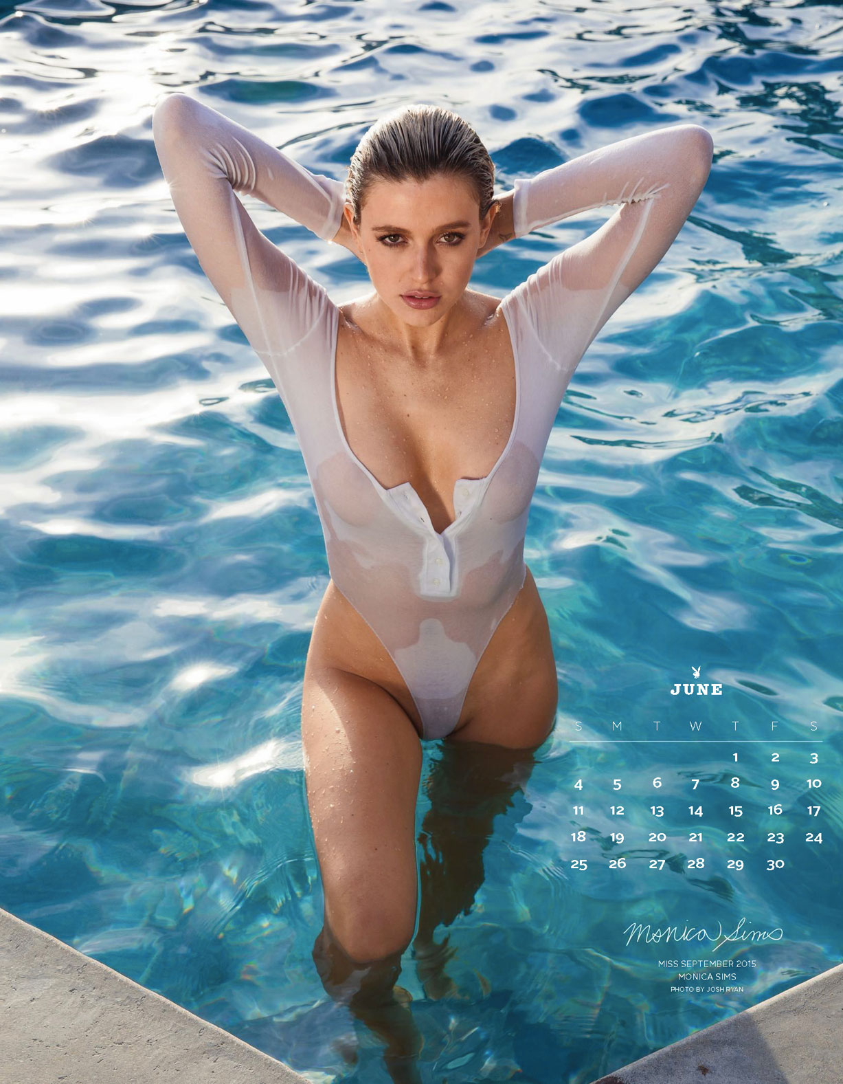 Playboy US Playmates 2017 calendar - Miss September 2015 Monica Sims / Моника Симс – Девушка месяца сентябрь 2015 журнала Плейбой США