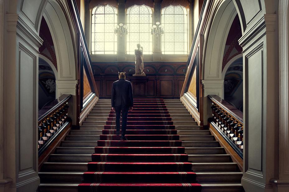 L'escalier - Une vie de chateau / A golden youth / photo by Malo