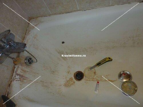 инструменты для заделки скола ванне