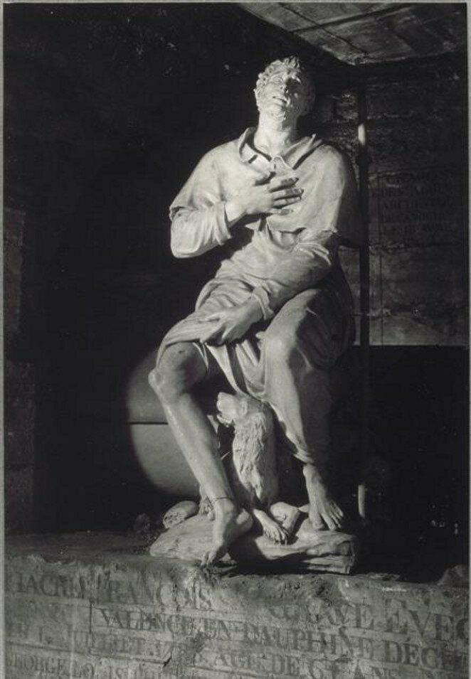 1945. Святой Роха и его собака, подвалы Сен-Сюльпис во время войны