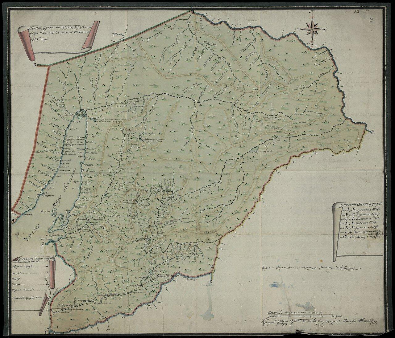 Баргузинский уезд. 1797 20 верст