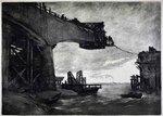 1961 жиделев н ф строительство моста через реку вятку офорт мордовский респ музей из иск-в.