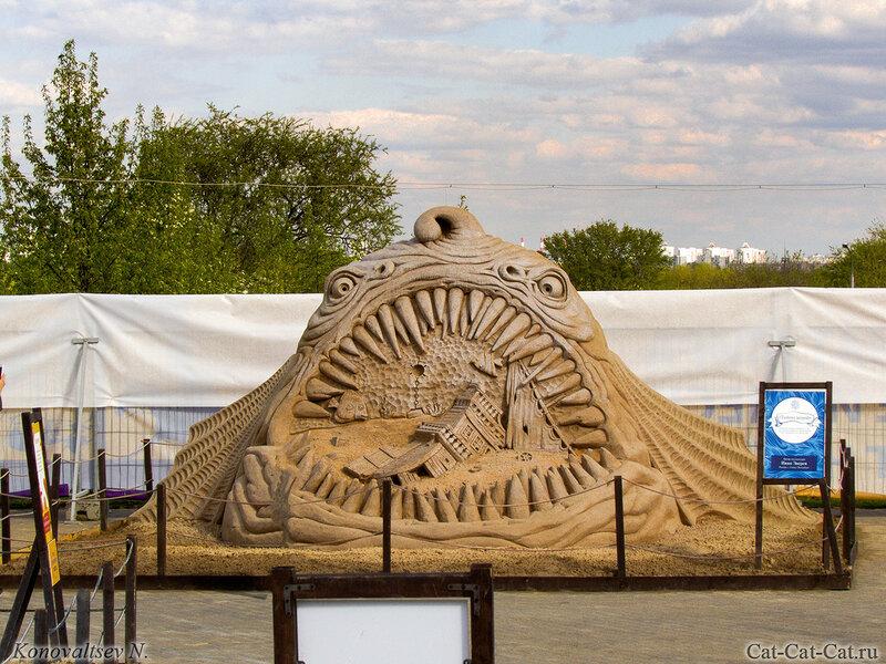 Тайны морей. Выставка скульптур из песка в Коломенском 2018