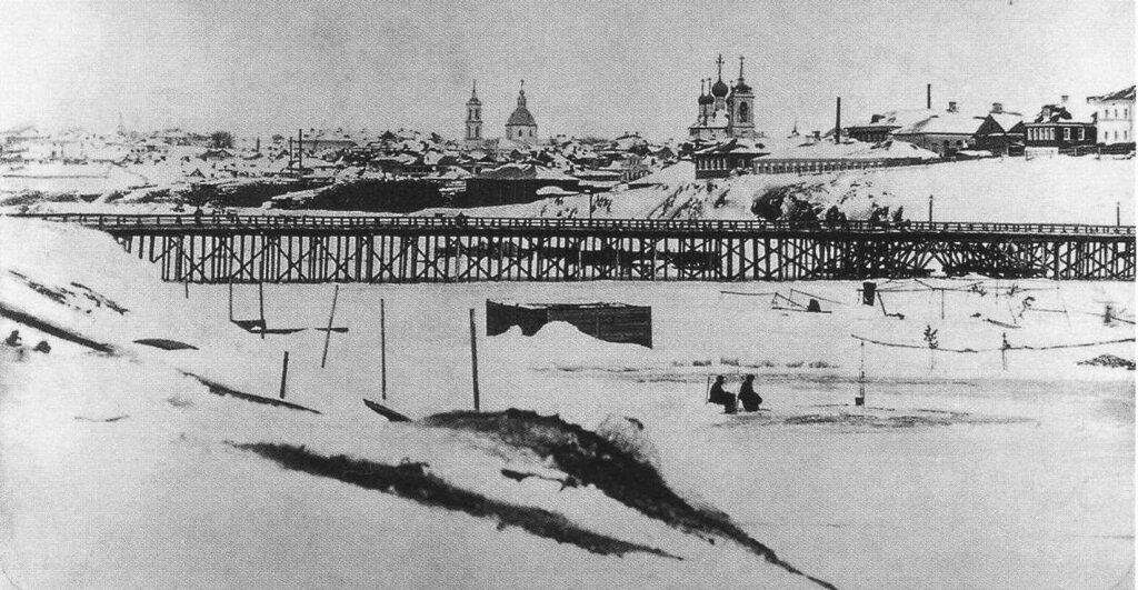 6556 Вид деревянного Дорогомиловского моста Фототипия Шерер, Набгольц и Ко 1860-е.jpg