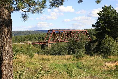 Железнодорожный мост в Кусе