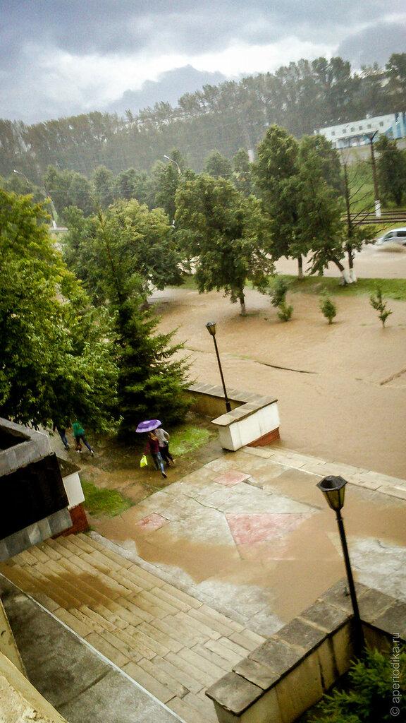 Потоп в Златоусте. Ливень