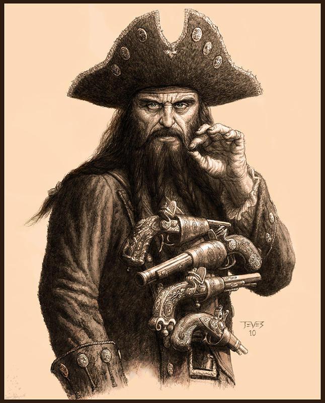 Чёрная борода рисунки