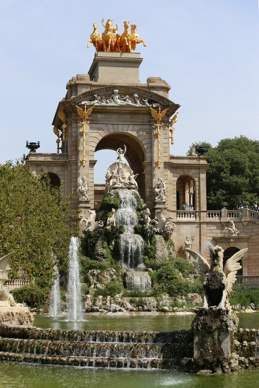 Barcelona. The Gran сascade fountain (Cascada del Parc de la Ciutadella)