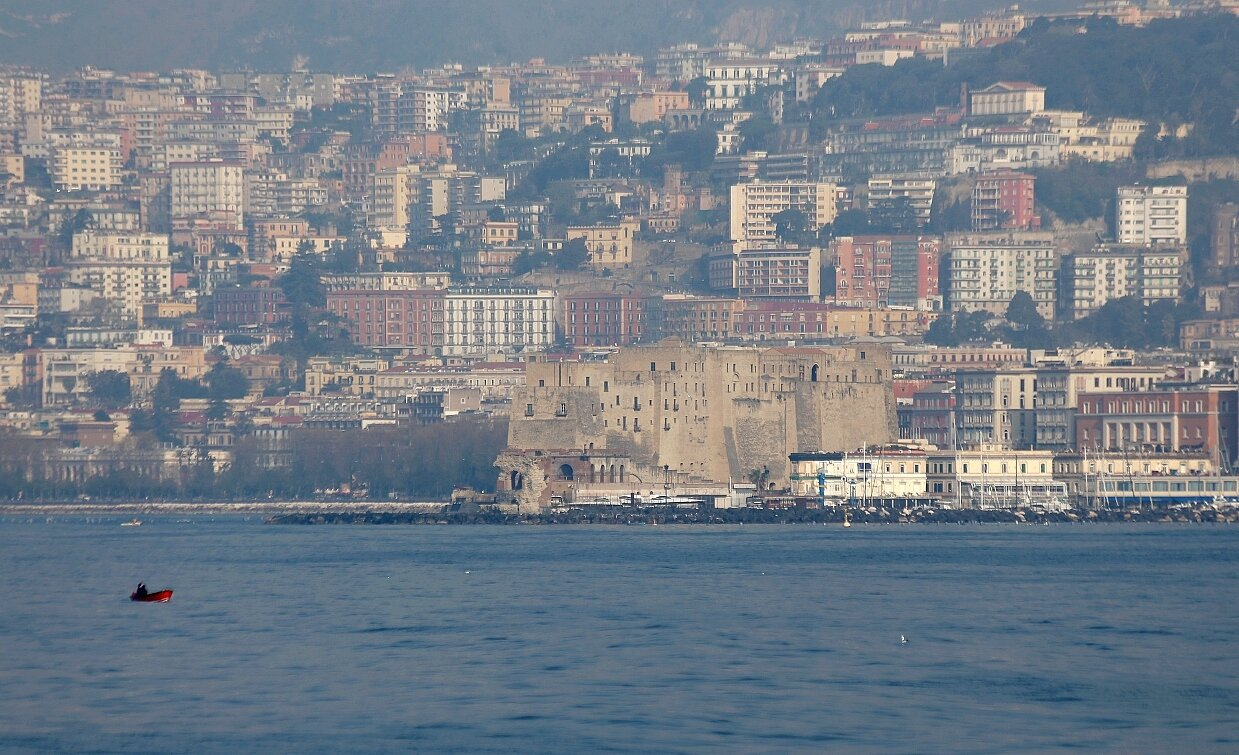 Naples. The fortress of the Egg (Castel Dell'ovo)