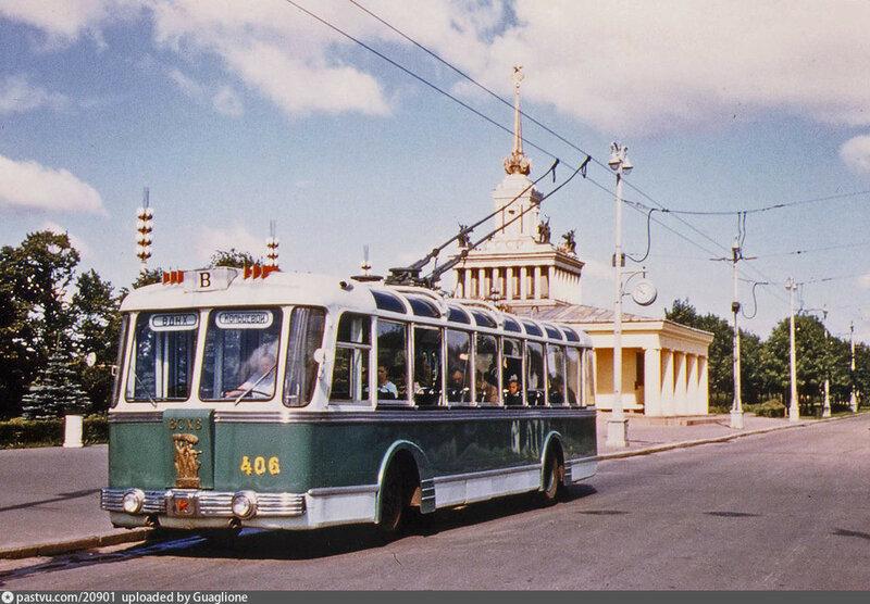 Троллейбус ТБЭС. ВДНХ. 1959...jpg