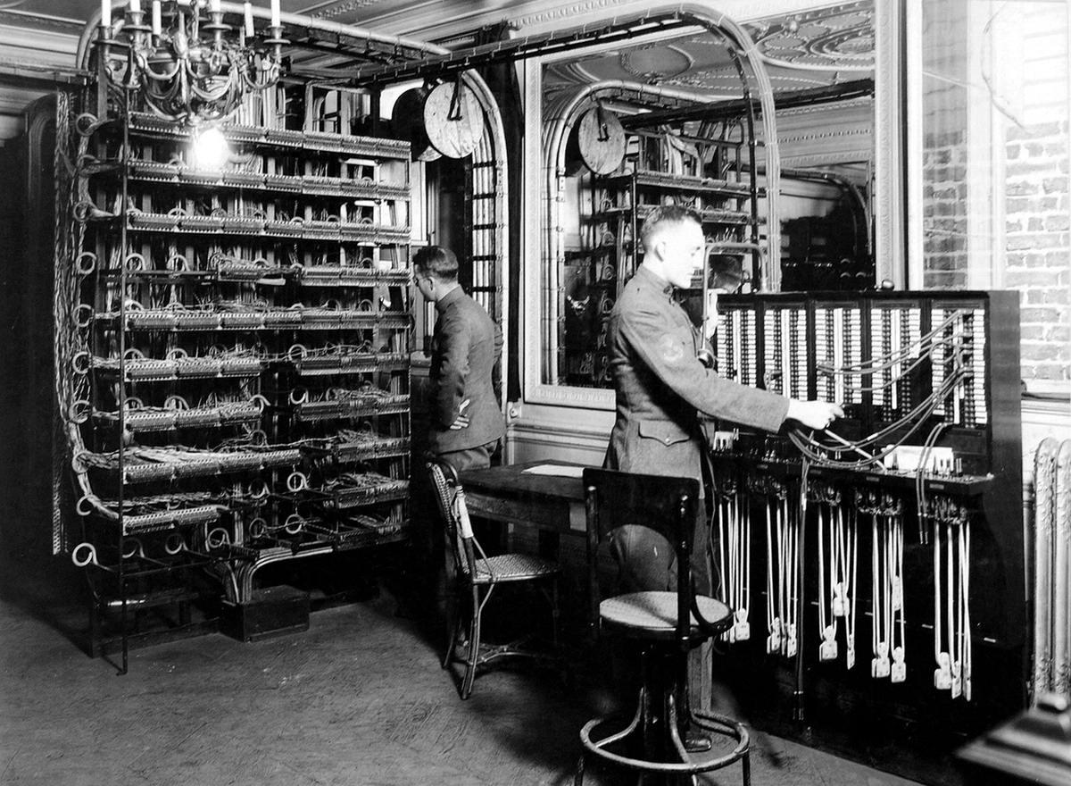 Телеграфный узел связи в Елисейском дворце в Париже (сентябрь 1918 года) (21)