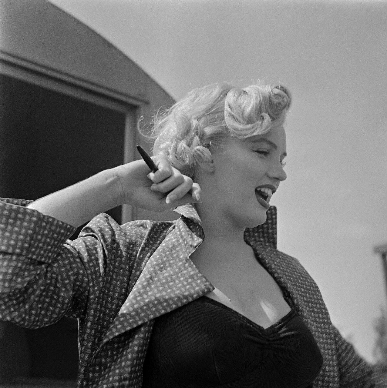 Head and Shoulders Portrait of Marilyn Monroe