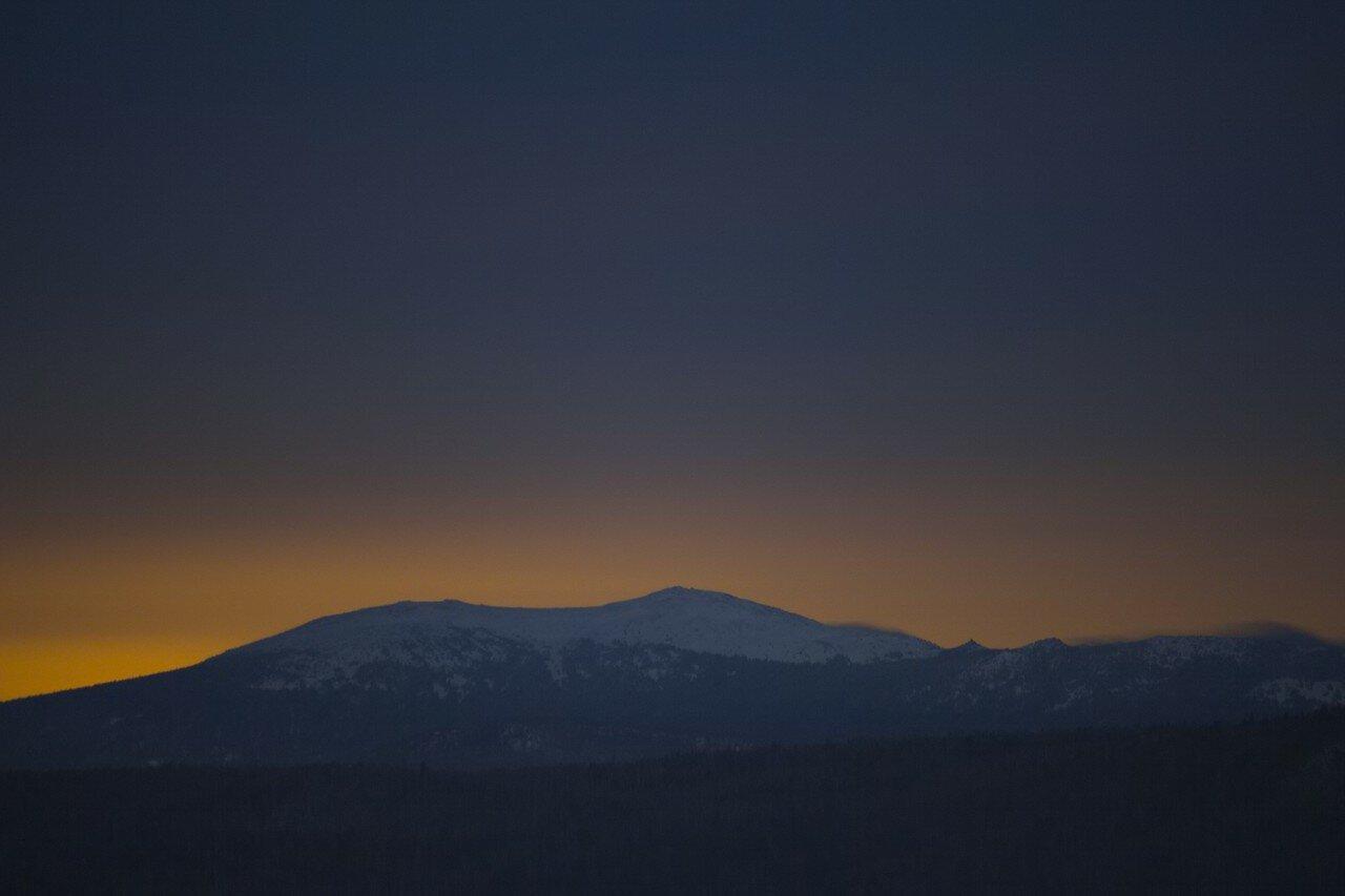 Таганай, Круглица, вид из Кусы, ночной пейзаж