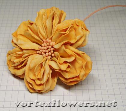 английская роза из фоамирана