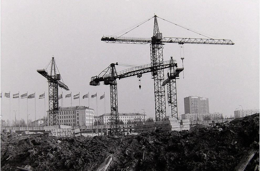 28. Москва, Юго-Запад, строительство гостиницы «Спорт», 1976 г.