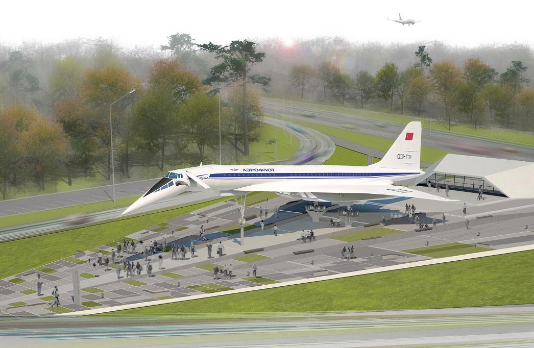 Ту-144 RA-77114 в Жуковском