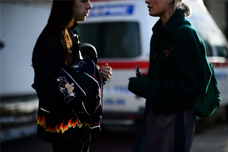Уличная мода Киева - Жан Грицфельд и Валя Грищенко / Jean Gritsfeldt and Valia Gryshchenko - Ukrainian Fashion Week Fall 2016 Street Style by Adam Katz Sinding