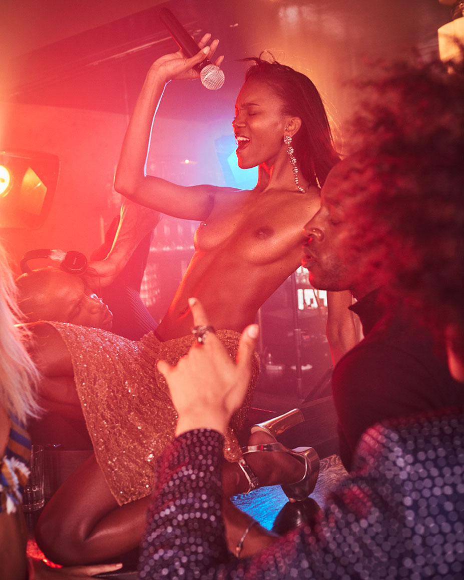 Michaela Thomsen & Stella Vaudran - Soul Train by Michel Sedan in Lui may 2016