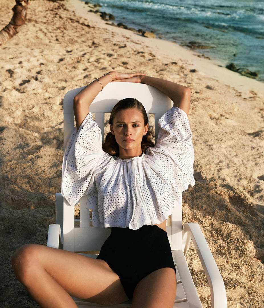 Эдита Вилкевичуте на острове Сен-Бартелеми / Edita Vilkeviciute by Cass Bird in WSJ april 2016