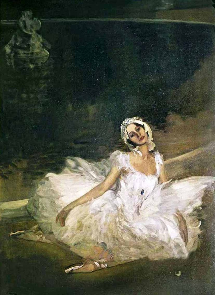 Sir John Lavery (1856-1941) - The Dying Swan: Anna Pavlova,