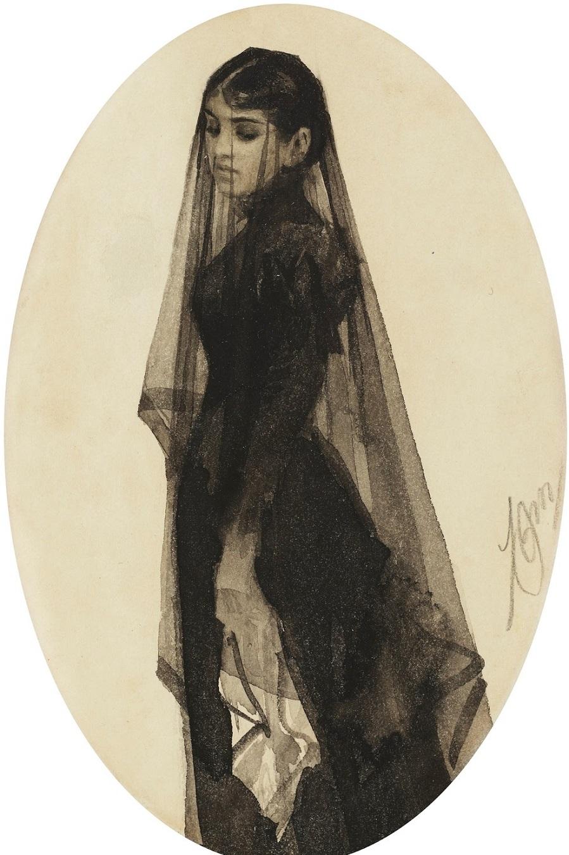 2_1882-1883_Вдова_17 x 11_бумага, акварель_Частное собрание.jpg