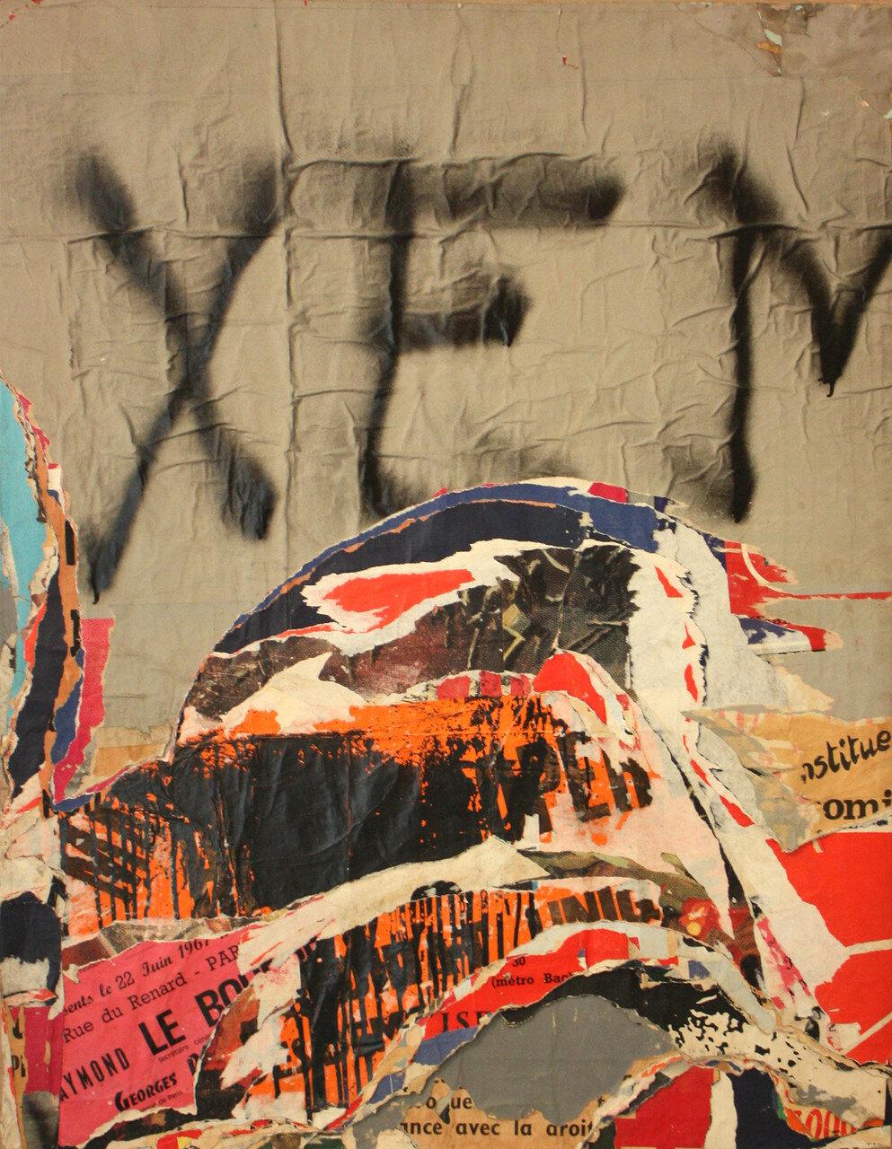 1968. Граффити. Улица Фобур дю Тампль