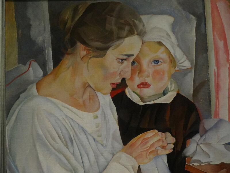 Б. Григорьев Мать и дитя. 1918 Международная арт-галерея Эритаж1.JPG