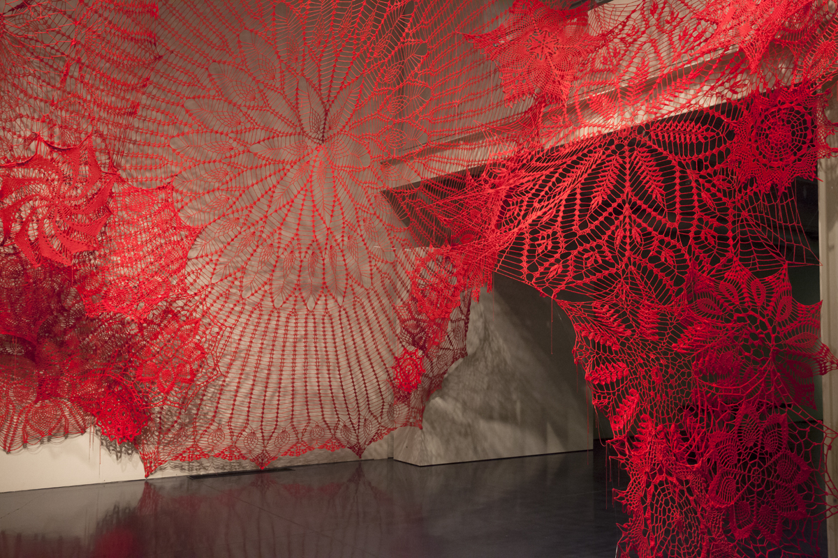 Oversized Crocheted Doilies by Ashley V Blalock Climb Up Trees and Gallery Walls