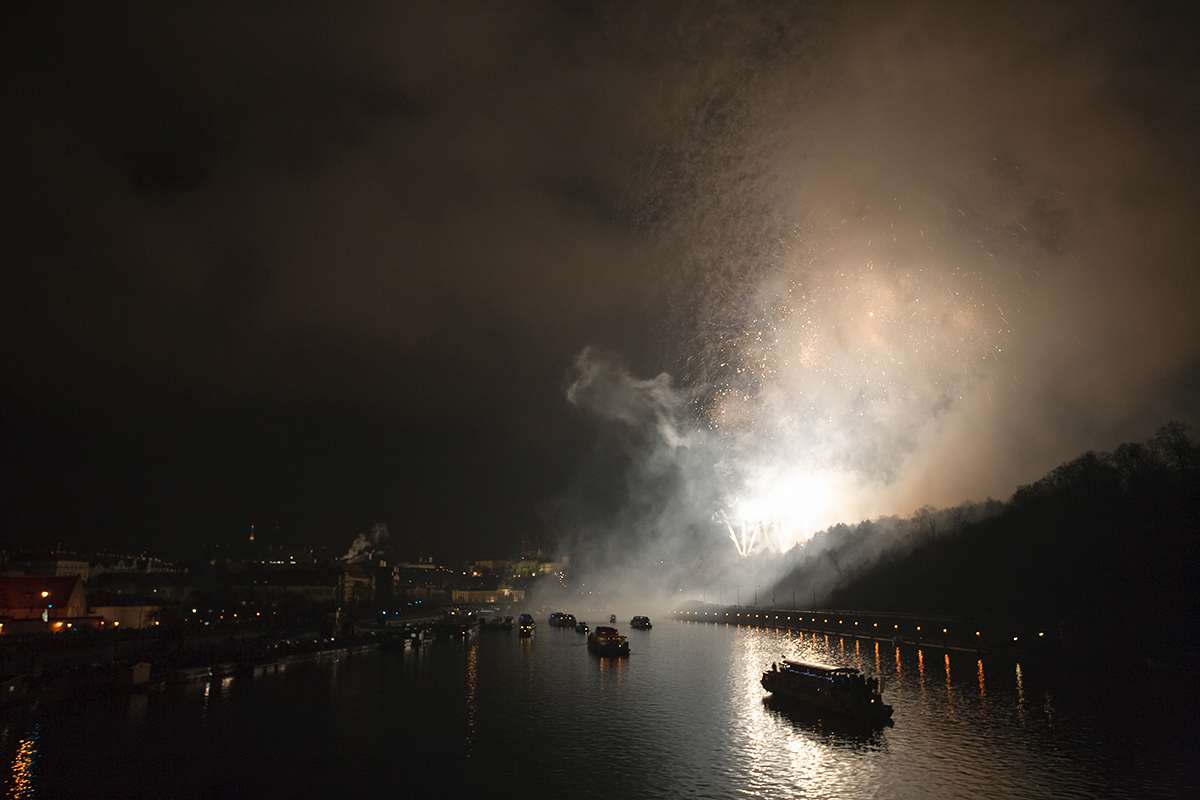 фото, фотографии, Прага, новый год, салют