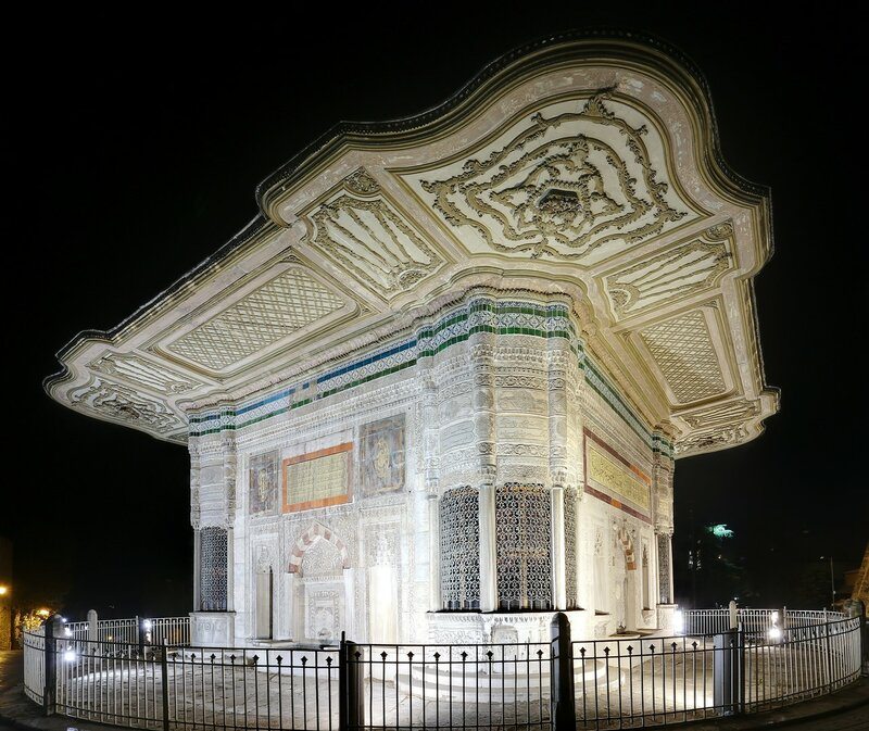 Night Istanbul. The Fountain of Ahmed III (III. Ahmet Çeşmesi)