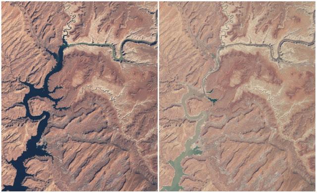 Засуха в юго-западной части США сделала мосты практически ненужными.