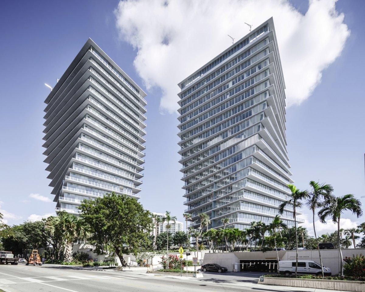 Grove at Grand Bay с видом на береговую линию Майами. Проектирование — Bjarke Ingels Group. Высота —
