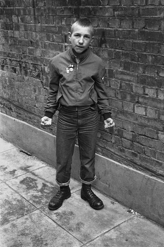 1980. Юный скинхед на Карнаби-стрит