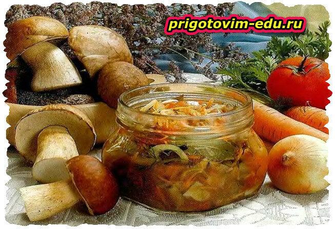 Салат грибной консервированный