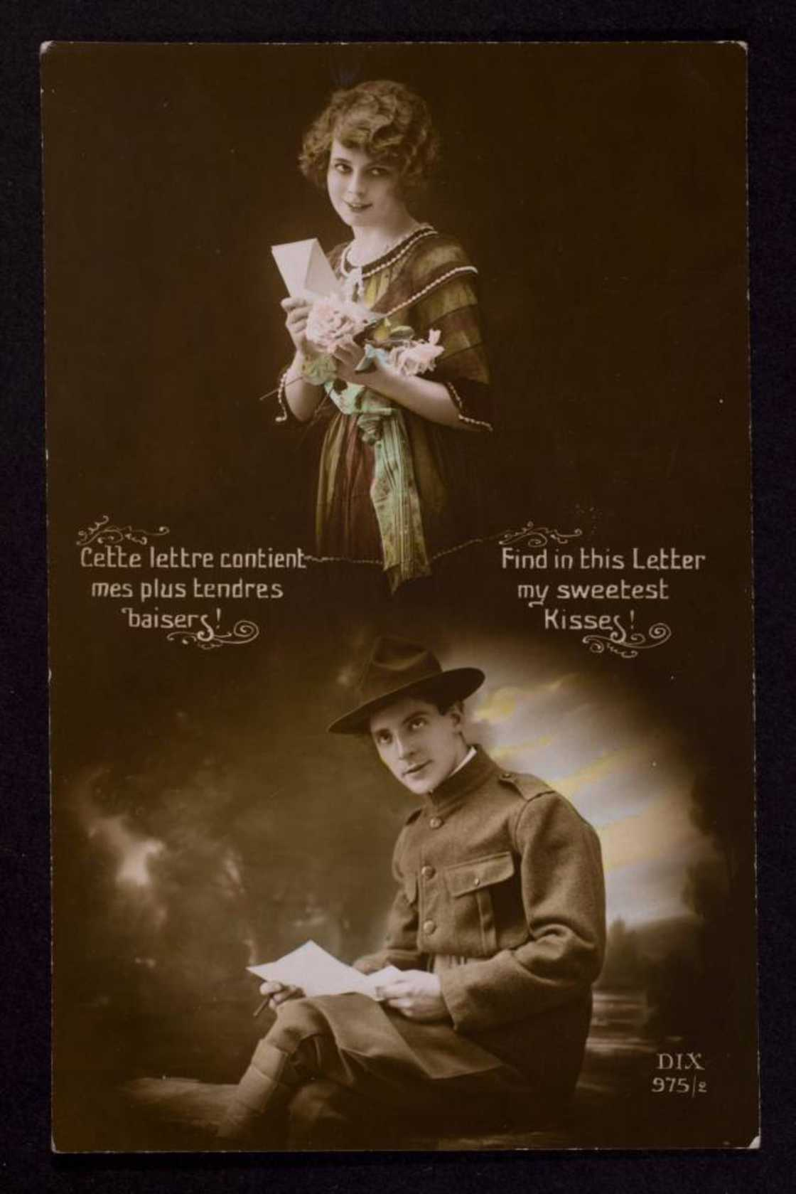 Vintage postcards from the World War I